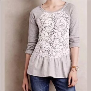 Anthropologie Sunday In Brooklyn Meja Lace Sweater